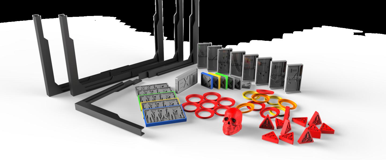 Zombicide, Pack d\u0027accessoires génériques et compatibles par Gozu Zone ,  Zombicide, Pack d\u0027accessoires génériques et compatibles par Gozu Zone , Jeu  de