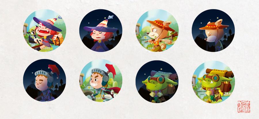 Visuels des stickers pour les Pions