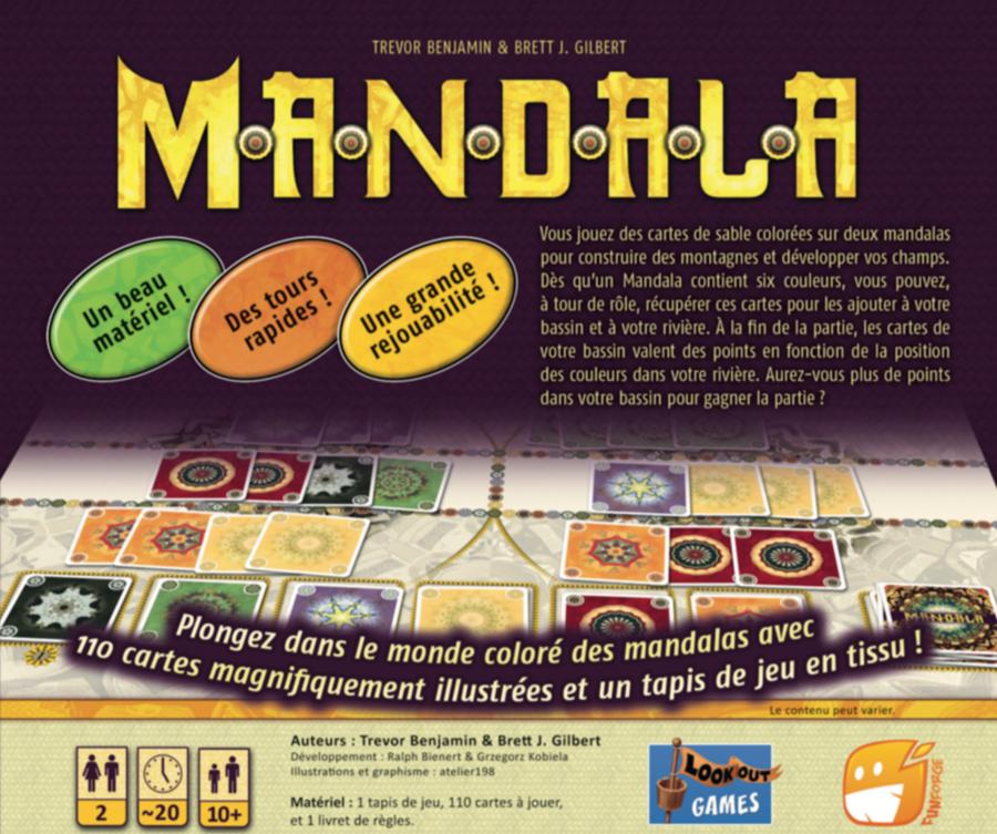 Jeu 2 joueurs : Mandala disponible semaine prochaine !
