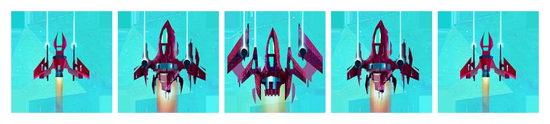 Flipships : de haut en bas