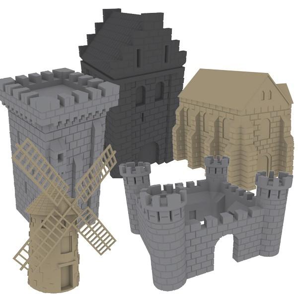 Pack de bâtiment 3D