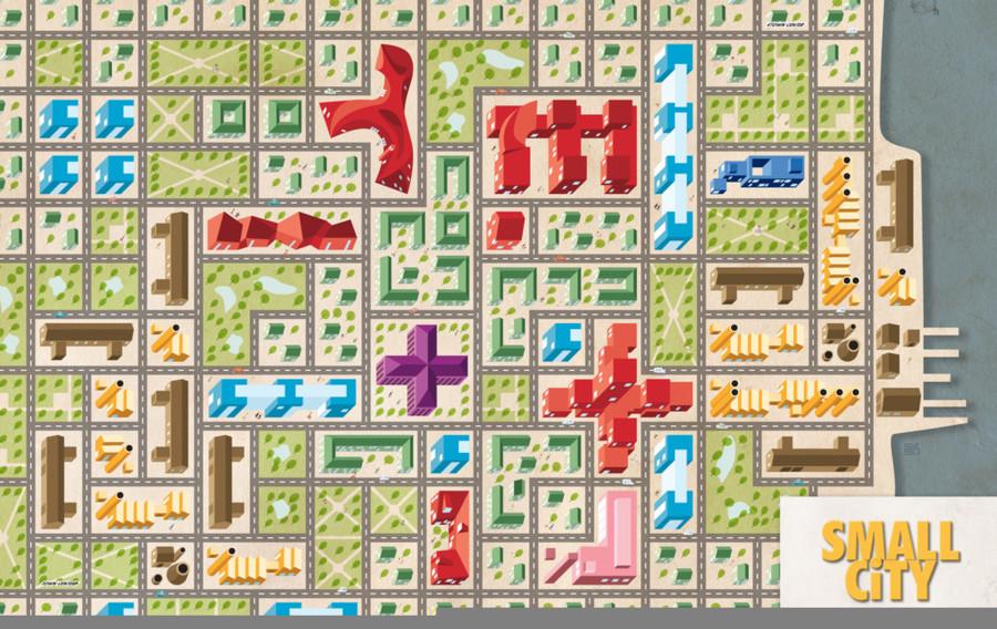 Small city sur (quelques) etals