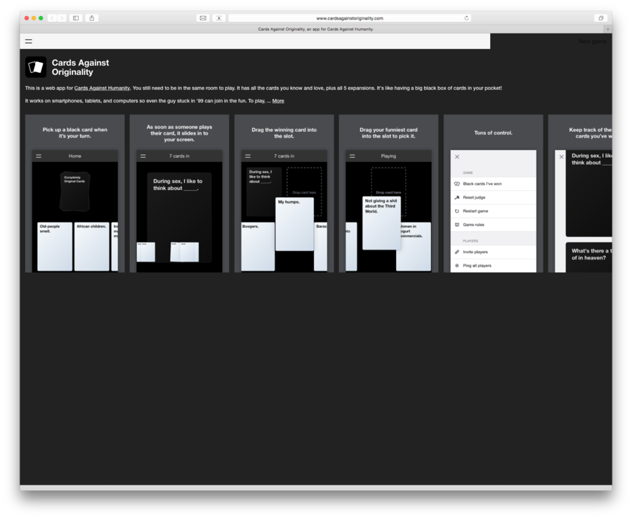 Cards Against Humanity: Kostenlos im Browser
