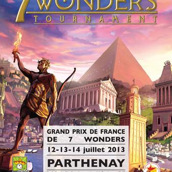"""Affiche Championnats de France """"7 Wonders"""" 2013"""