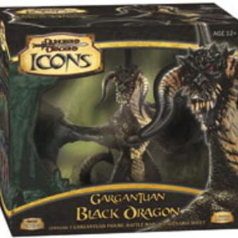 Dungeons & Dragons Miniatures : Gargantuan Black Dragon