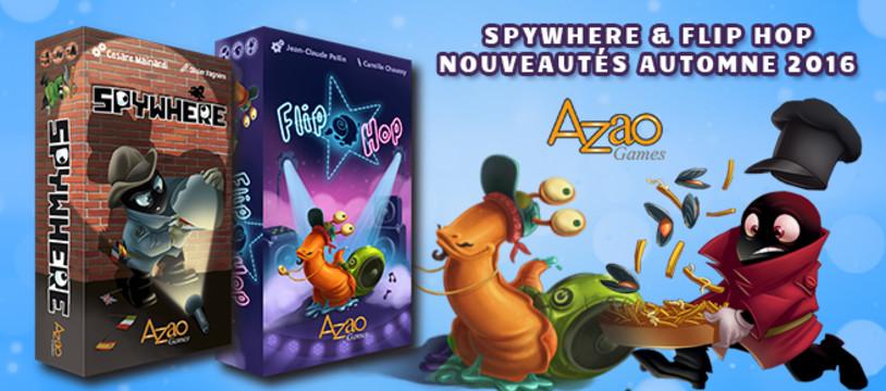 [Essen 2016] Azao Games et concours Spywhere