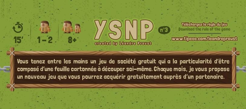[Free-to-Play] YSNP - le jeu du mois d'avril est disponible !