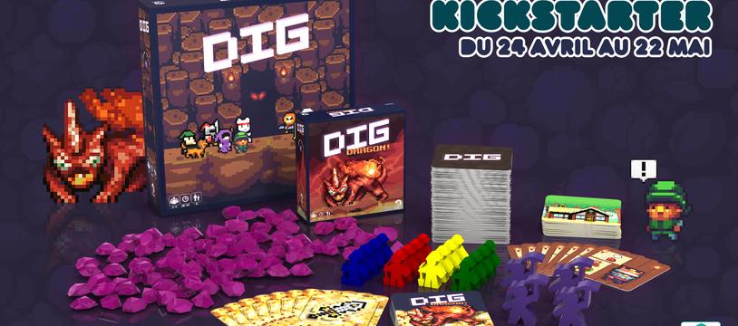 DIG et son extension DIG: Dragon! sont à portée de pioche sur Kickstarter!