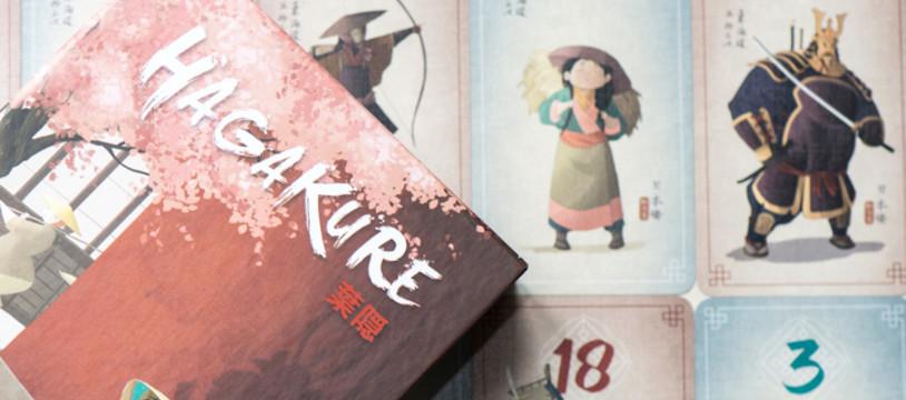 Sur le Vif! Review de Hagakure. Petit jeu de pli épuré.