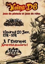 Apres-midi jeu de plateau Conan et Blood Rage