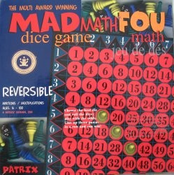 Mad math dice game
