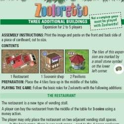 Zooloretto : Trois bâtiments supplémentaires