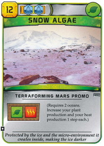 "Terraforming Mars - Carte promotionnelle ""Algue des Neiges / Snow Algae"""