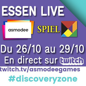 Asmodee à Essen via Twitch
