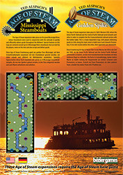 Age of Steam Expansion : Mississippi Steamboats / Golden Spike