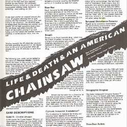 Life & Death & An American Chainsaw