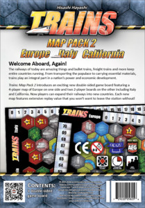 Trains : Map Pack 2 – Europe, Italy and California