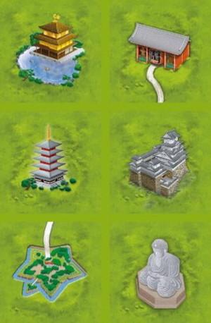 """Carcassonne - Extension """"Monastères japonais"""""""