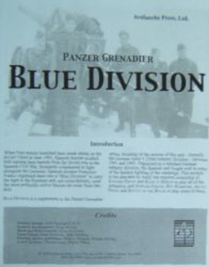 Panzer Grenadier : Blue Division