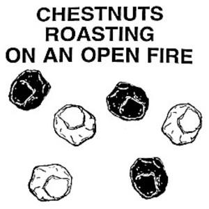 Chestnut roasting on an open fire