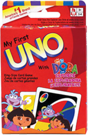 My first Uno with Dora explorer