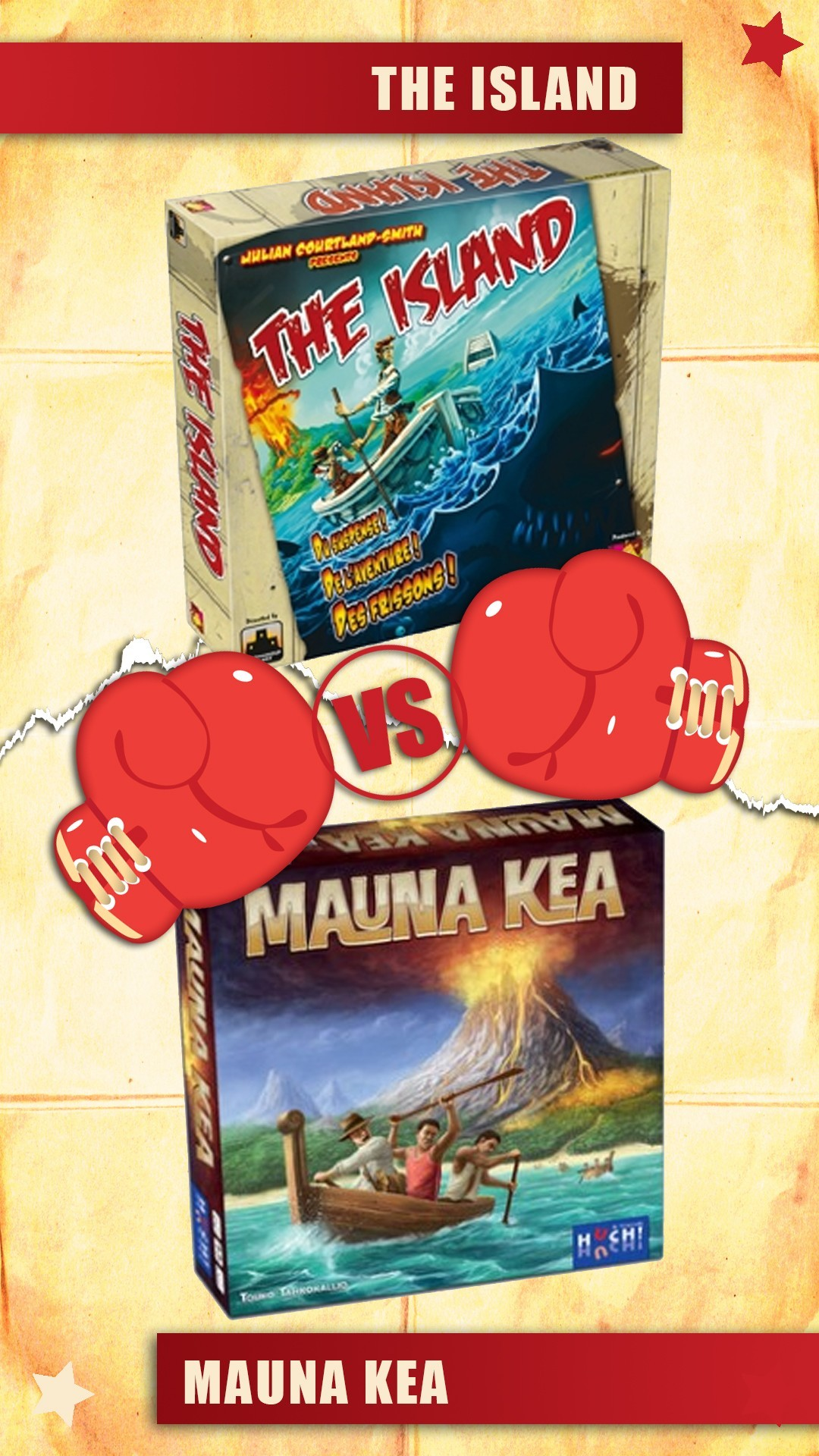 versus : the island vs mauna kea