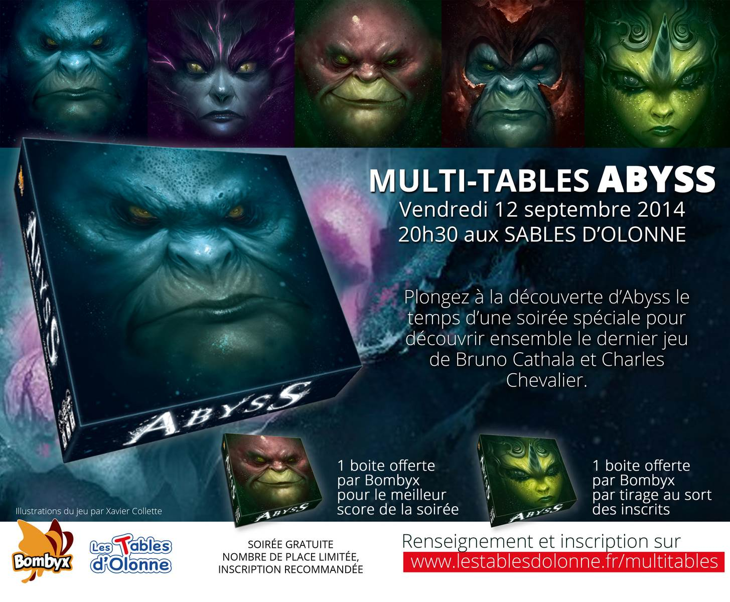 Multi-tables Abyss aux Tables d'Olonne